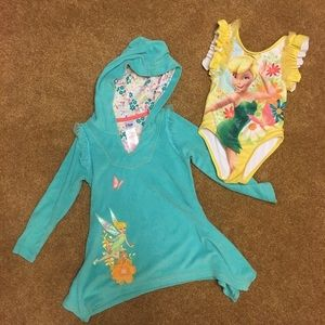 Disney Tinkerbell Bathing Suit & Cover Up
